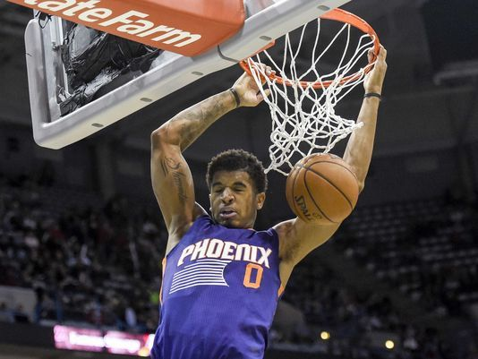 Phoenix Suns forward Marquese Chriss (0) dunks a basket in the fourth quarter during the game against the Milwaukee Bucks.  |Source - Benny Sieu, USA TODAY Sports|