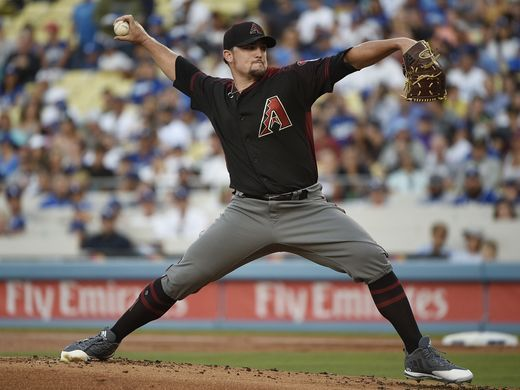 Arizona Diamondbacks starting pitcher Zack Godley (52) pitches against the Los Angeles Dodgers. |Source: Kelvin Kuo-USA TODAY Sports|