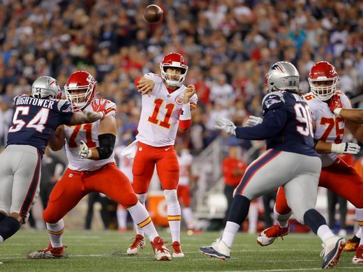 Alex Smith was in immense form tonight for the Chiefs | Source: David Butler II-USA TODAY Sports