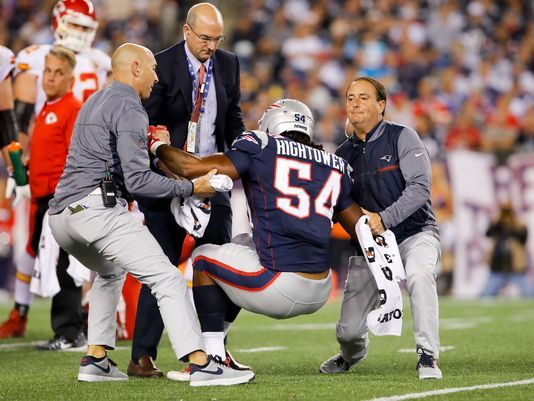 Dont'a Hightower left the game with an injury, derailing the Patriots defense   Source: David Butler II-USA TODAY Sports
