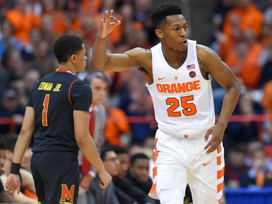 Battle played through pain to help lead Syracuse to an important victory/Photo: Rich Barnes/USA Today Sports