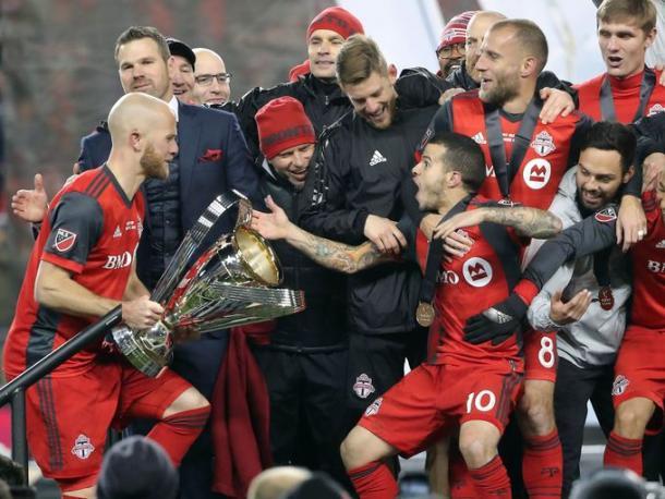Sebastian Giovinco celebrates winning the MLS with Toronto   Source: mlssoccer.com