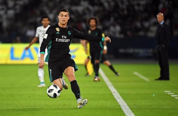 Cristiano Ronaldo em ação contra Al Jazira (Foto: Getty Images)