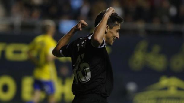 Navas celebra su gol ante el Cádiz / Foto: LaLiga