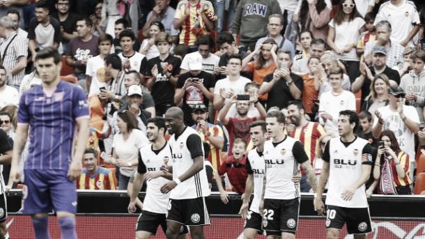 Equipe comemora mais um gol diante de sua torcida | Foto: Divulgação/La Liga