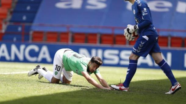 Juan Carlos fallando una ocasión | Fuente: La Liga