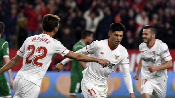 Joaquín Correa celebra el 1-0 | Foto: La Liga