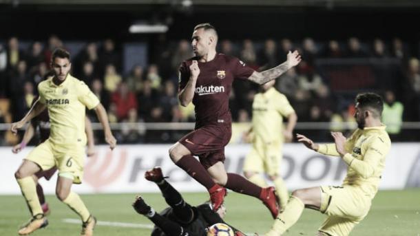 Paco Alcácer entrou no segundo tempo e deu uma assistência   Foto: Divulgação/La Liga