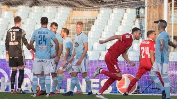 Il gol decisivo e l'esultanza spontanea di Iborra. Fonte foto: laliga.es