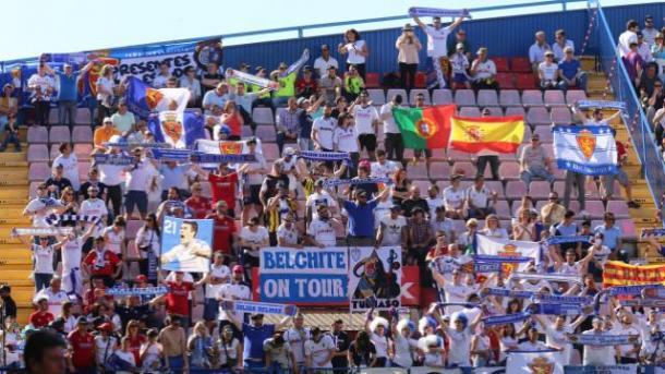 Multitud de aficionados desplazados desde Zaragoza // Imagen: LaLiga