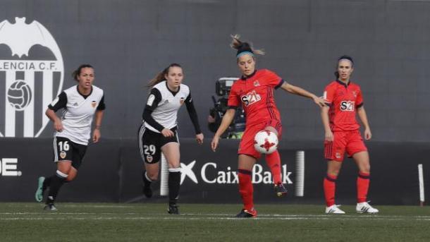 Zornoza controlando el balón. Foto: La Liga