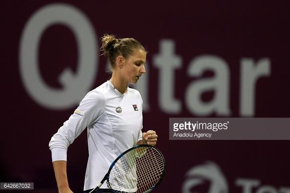 Pliskova fired 13 winners to take the opening set/Photo: Anadolu Agency/Anadolu Agency/Getty Images