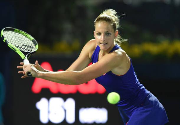 In Mallorca, Pliskova will be making her second tournament appearance on the lawns in 2017. Photo credit: Tom Dulat/Getty Images.