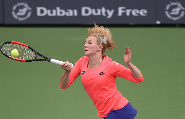 Siniakova could not find the break back | Photo: Tom Dulat/Getty Images