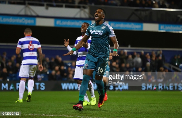 Omar Bogle has been a hit with the Latics so far. (picture: Getty Images / Clive Rose)