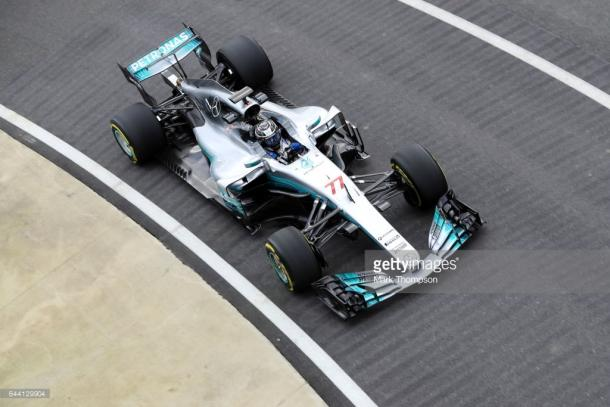 Bottas was impressed with the W08. | Photo: Getty Images/Mark Thompson