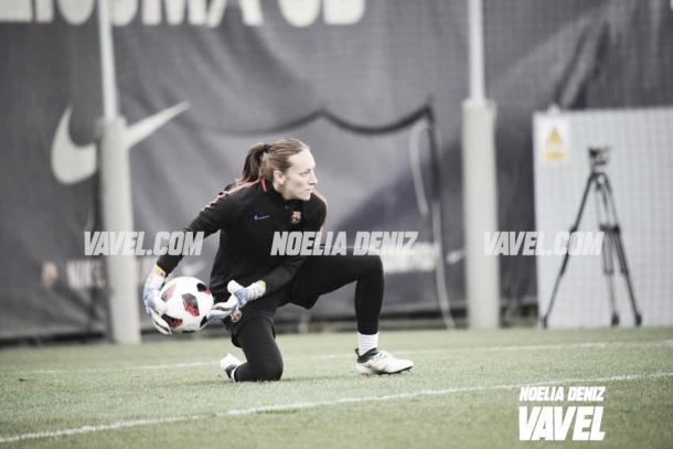 La portera mexicana seguirá en Barcelona / Foto: Noelia Déniz (VAVEL.com)