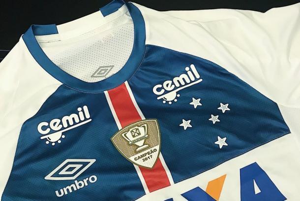 Nova camisa da Raposa para 2018 (Foto: divulgação/Cruzeiro)