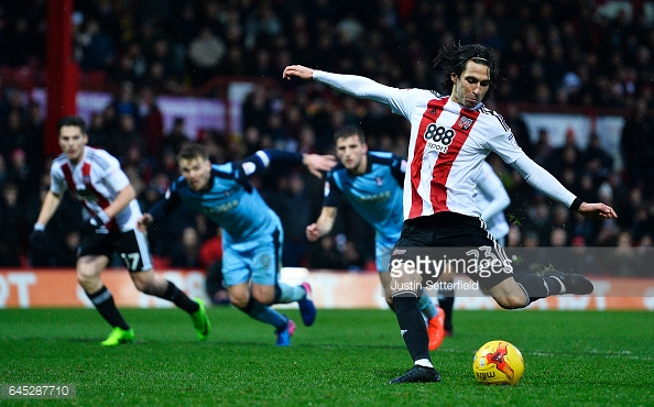 Jota scored 12 goals for Brentford last season. (picture: Getty Images / Justin Setterfield)