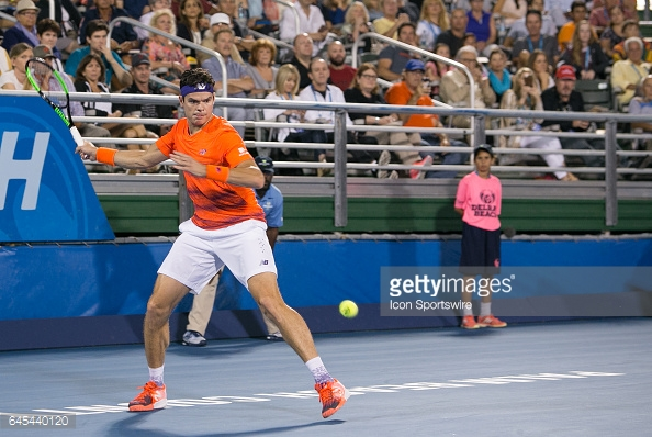 Raonic came through a heavyweight semifinal against Juan Martin Del Potro to reach the final/Photo: Aaron Gilbert/Icon Sportswire/Getty Images
