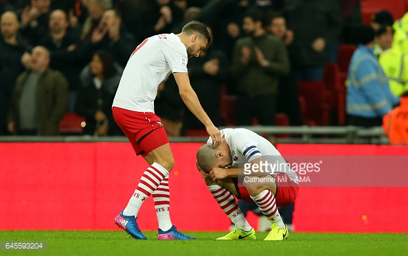 The late cup final defeat was too much to take for the outstanding Oriol Romeu. Photo: Getty.