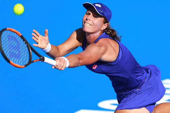 Lepchenko gets a life line as she breaks back | Photo: Miguel Tovar/Getty Images