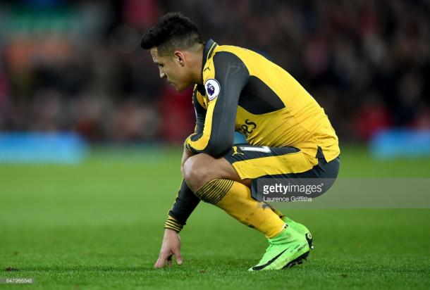 Sanchez starred upon his entry, but was left disappointed. Again. | Photo: Getty Images/Laurence Griffiths