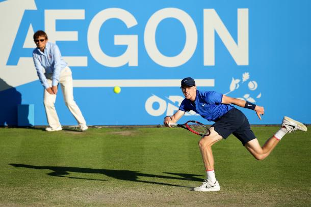 Edmund defeated Rosol 6-4, 6-3 at the Aegon Open. Photo: Getty