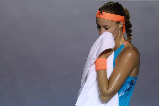 Mladenovic not able to back up her huge win in Dubai | Photo: Miguel Tovar/Getty Images