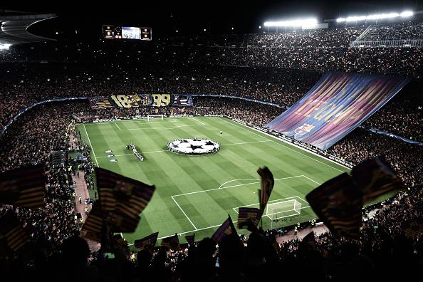 El Camp Nou, estadio del Fútbol Club Barcelona, en el Barça-PSG de la Champions 16/17 | Getty Images
