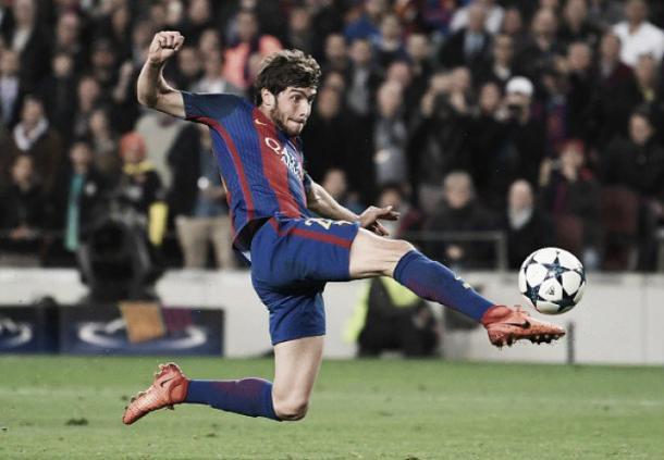 Gol de Sergi Roberto em cima do PSG (Foto: Getty Images/Laurence Griffiths)