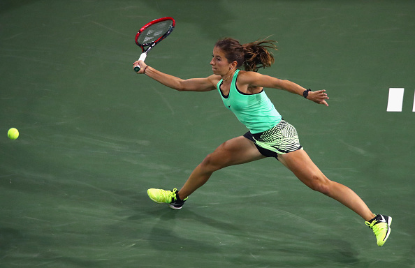 Annika Beck dominated the second set and forced the match to be decided in three. (Photo: Getty Images/Clive Brunskill)