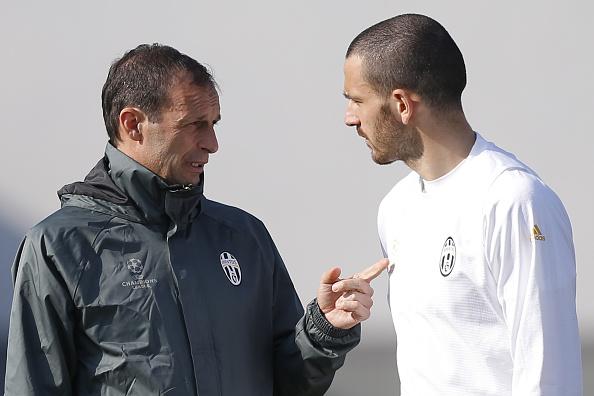 Relação entre Allegri e Bonucci ficou desgastada na última temporada (Foto: Marco Bertorello/AFP)