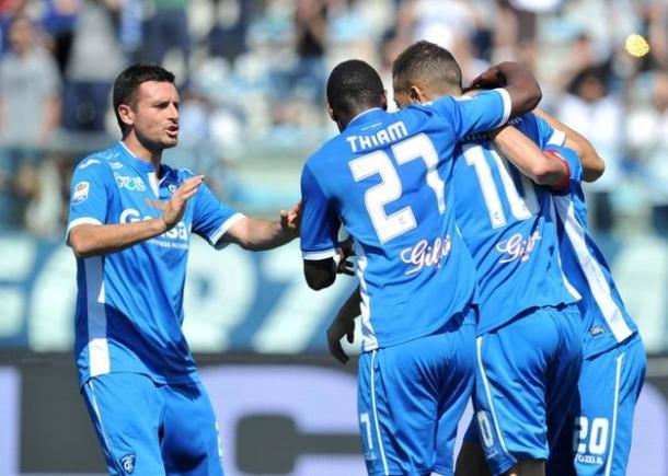 L'esultanza di Pucciarelli. Foto: Calcioweb