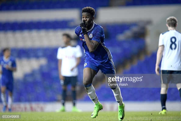 Ugbo is yet to make a first-team appearance for Chelsea. (picture: Getty Images / Darren Walsh)