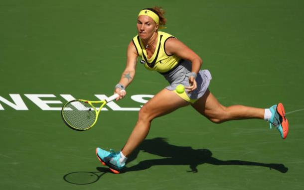 Kuznetsova is searching for her second title in Stuttgart. Photo credit: Clive Brunskill/Getty Images.