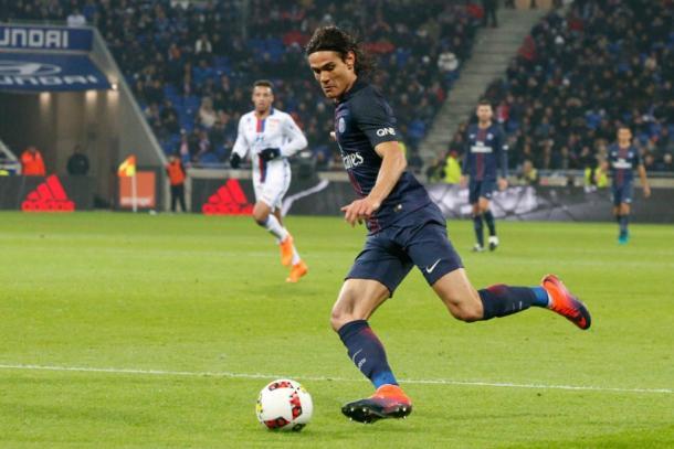 Edinson Cavani fue el gran protagonista del partido de la primera vuelta. | FOTO: PSG.fr
