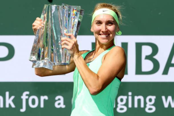 Premier Events such as those in Indian Wells, won by Elena Vesnina this year, will be on the surface (Getty/Matthew Stockman)