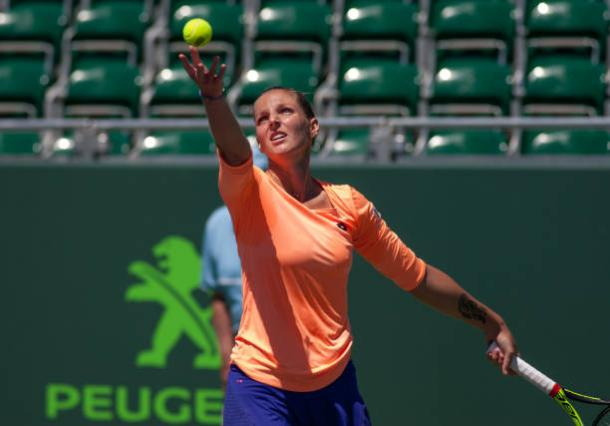 Pliskova will look to translate her big game on the green lawns. Photo credit: Icon Sportswire/Getty Images.