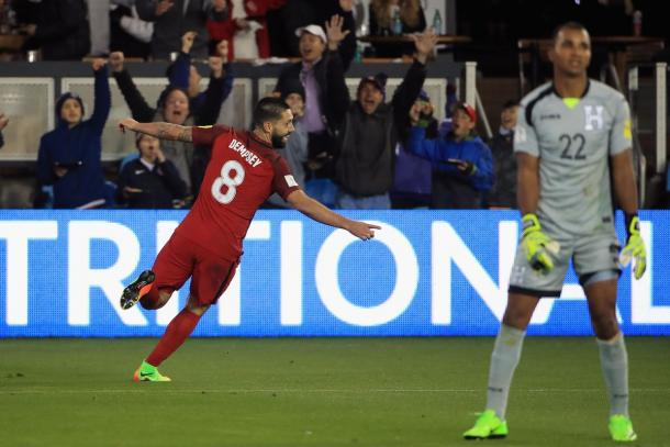 The USMNT will be hoping for Clint Dempsey to repeat his hat-trick performance he had against Honduras on Tuesday at Panama. Photo provided by Ezra Shaw-Getty Images.