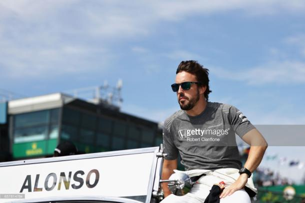 Alonso had late problems. | Photo: Getty Images/Robert Cianflone