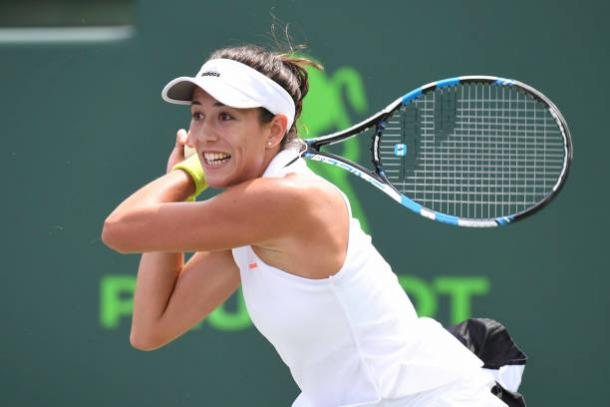 Back on her best surface, Muguruza looks to rekindle her game that took her to the French Open title last year. Photo credit: Ron Elkman/Getty Images.