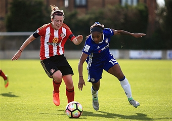 Crystal Dunn in the last round against Sunderland. Source: Getty Images