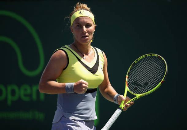 Svetlana Kuznetsova during her straight sets win over Taylor Townsend (Getty/Julian Finney)