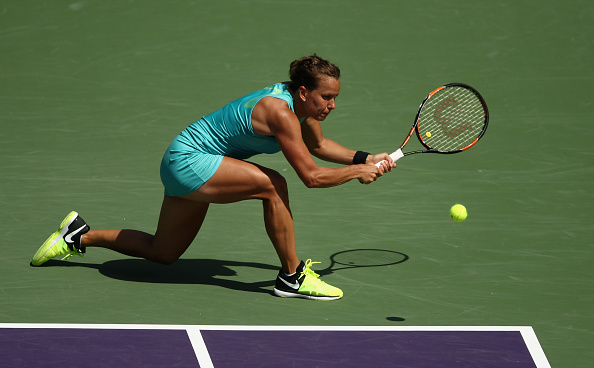 Strycova gets one of the breaks back | Photo: Julian Finney/Getty Images