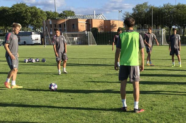 Entrenamiento del Juvenil A del Real Madrid en Nyon | Fuente: www.realmadrid.com