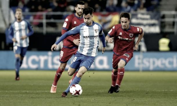 Juanpi en el partido ante el Numancia | Foto: Málaga C.F.