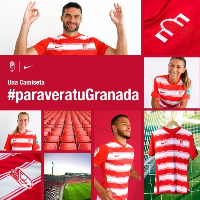 Fotomontaje del Granada CF para presentar la nueva equipación.