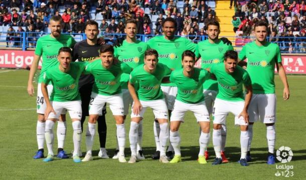 Equipo titular que jugó en el Francisco de la Hera | Fuente: La Liga