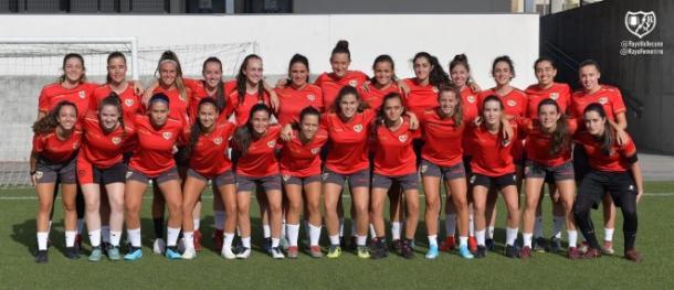 Jugadoras del filial femenino | Fotografía: Rayo Vallecano S.A.D.